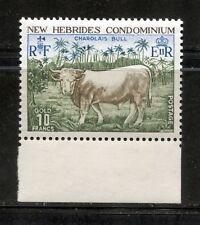 DOMESTIC ANIMALS: CHAROLAIS BULL ON BRITISH NEW HEBRIDES 1975 Scott 196, MNH