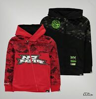 Boys No Fear Brushed Fleece Regular Printed Zip Hoodie Sizes from 7 to 13