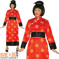 Chinese Geisha Ladies Fancy Dress National Oriental China Woman Adults Costume