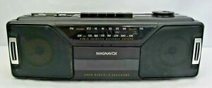 Vintage Classic Magnavox AM-FM Radio/Cassette Player AQ 5090 Boombox Tested Used