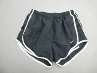 NIKE SIZE M WOMENS BLACK ATHLETIC DRI-FIT SPORTSWEAR LINED TRACK SHORTS T456