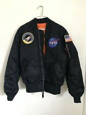 Reversible Small Alpha Industries NASA Bomber Jacket- Replica Blue and Orange