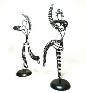 RARE POST WWII VINT W BERLIN US SEKTOR PR BLK WIRE SPIRAL DANCING KINETIC FIG'S