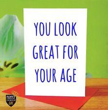O220 HAPPY BIRTHDAY 50TH 60TH MUM DAD GREETINGS CARD RUDE FUNNY JOKE CHEEKY