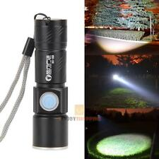 800LM CREE Q5 LED Zoomable Waterproof USB Rechargeable Flashlight Torch Lamp