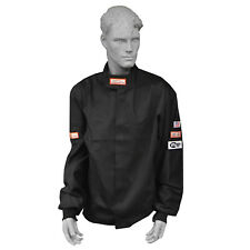 DRAG RACING FIRE SUIT JACKET 1 LAYER  SFI 1 RACE SUIT SFI 3-2A/1 BLACK 3X , 3XL