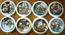 Garfield's 8 plate Christmas collection by the Danbury Mint Flawless & Complete.