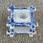 Ancien encrier en porcelaine japonisant résille déco vintage French antique