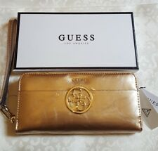 LOGO GUESS kamryn 4G Wallet Zip Rose Gold £ 45 idea regalo di San Valentino?