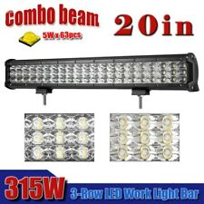 "Tri-Row 20"" Inch 315W Led Work Light Bar Spot Flood Combo Offroad 4WD Truck CAO"