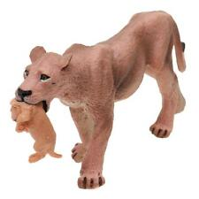 Realistic Lioness w/ Baby Lion Animal Model Figure Kids Educational Toy Gift