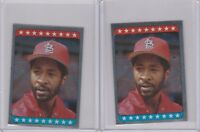 1985 Topps Stickers Foil Cardinals Ozzie Smith #181  Lot of 2