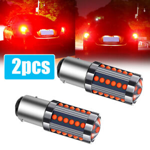 2 x 1157 BAY15D 36 COB LED Red Tail Lamp Car Signal Brake Light Parking Bulbs