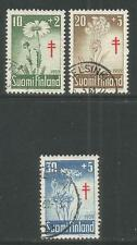 Finland 1959 Local Flowers semipostal--Attractive Topical (B154-56) fine used