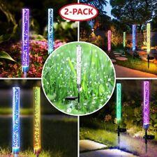Solar Stake Lights Garden LED Decorative Lights Path Walkway Landscape Lawn Yard