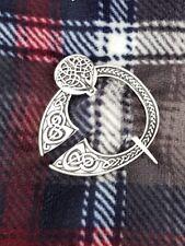 Celtic Silver Pin Brooch