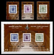100J. Nepalische Briefmarken. 3W+Block. Nepal 1981