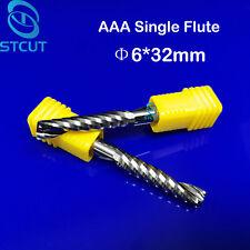 2pc HQ 6mm Acrylic PVC Wood endmill single flute spiral CNC router bits 6mmx32mm
