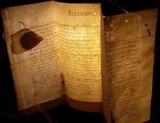 POPE ALEXANDER VII BULLA MANUSCRIPT on VELLUM - 1655 PAPSTBULLE Papal Pape Papa