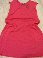ESPRIT KLEID 42/XL NEU SOMMER-Kleid TUNIKA HEMDKLEID Viskose pink