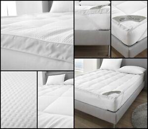 4CM Seersucker Microfiber 3D Mattress Topper 100% Polyester 500GSM Hotel Quality