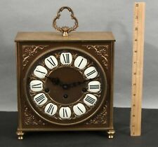 Antique Linden Germany Gilded Bronze Jeweled Mantel Clock, Westminster Chimes Nr