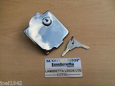 LAMBRETTA GP PETROL - FUEL FLAP - LOCK KEYS  - STAINLESS STEEL  - NEW