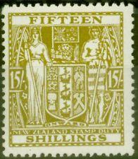 New Zealand 1940 15s Sage-Green SGF202 V.F MNH