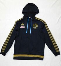 Philadelphia Union Soccer Bimbo Hooded Long Sleeve Jersey Adidas Mens Size Large
