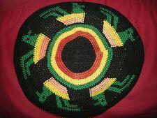 "EX COND vecchio vintage crochet rastafariana Cappello ""RASTA"" Bob Marley Reggae Giamaica"