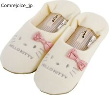 "Hello Kitty SANRIO Hagiwara slippers room shoes ""Achu"" Milky cream 24cm NEW F/S"