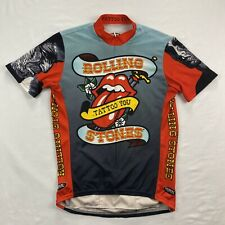 Primal Rolling Stones Tattoo You Mens Medium 3/4 Zip Cycling Road Bike Jersey