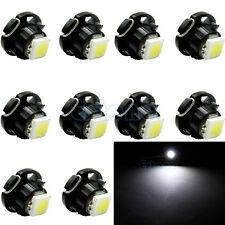 10pcs White T3 LED 3528 SMD Car Board Dash Cluster Gauges Lights Bulbs DC 12V