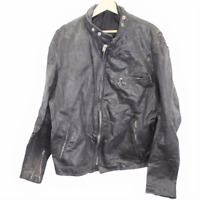 K78 Vintage Schott New York NYC Motorcycle Biker Leather Jacket Black Men's