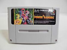 SNES -- MIGHTY MORPHIN POWER RANGERS -- premium Super famicom. Japan game. 15591