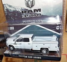 1/64 Greenlight white Dodge RAM 3500 Service Truck exclusive hitch