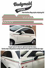 FIAT 500 Green White and Red (Italian Flag) style striping