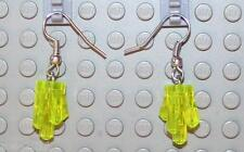 LEGO Earrings Transparent Yellow Rock  NEW!!!