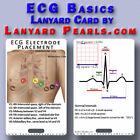 ECG Basics - Normal EKG - PVC Lanyard Badge Card - Nursing Medical
