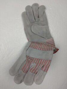 Boss Men's Indoor/Outdoor Split Cowhide Leather Palm Work Gloves L 4092