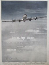12/1946 PUB BRISTOL AEROPLANE HERCULES ENGINES HERMES 1 CIVIL TRANSPORT AVION AD