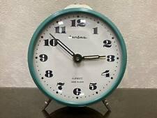 Vintage Soviet mechanical alarm clock Jantar Yantar USSR 4 Jewels