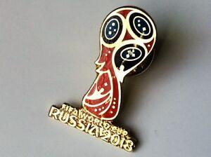 WORLD CUP 2018 LOGO PIN BADGE RUSSIA FOOTBALL SOCCER