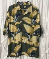 Tommy Bahama Mens Rayon Hawaiian Floral Print Casual Camp Button Shirt Medium