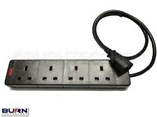 2M 4 Way IEC UPS Output Connector - IEC to 4 Way UK Socket Gang 10A