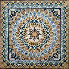 "88"" Handmade Carpet/Rug Floor Elegance Wall Design Home Marble Mosaic Art Tile"