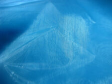 2m Blue Turquoise Sheer Organza Fabric 150cm Wide Wedding Craft Quality FREE PP