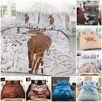 3D Animal Printed Duvet Cover Pillow Cases Quilt Bedding Set Single Double King