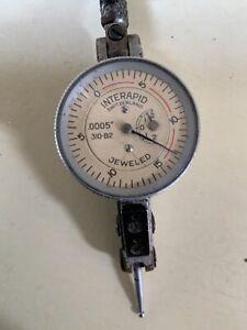 Vintage Interapid Machinest Dial Indicator / Swissmade .0005 Jeweled