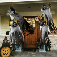 5.5ft Halloween Skeleton Ghost Hanging Decor Terrible Scary Party Haunted Props
